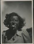 Mum with black face